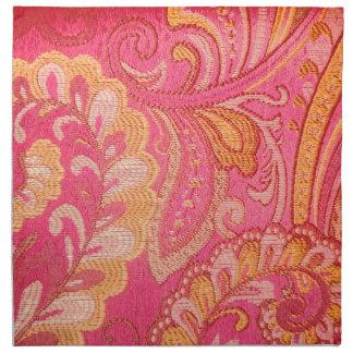 Hübsches elegantes Goldrosa-Paisley-Set   Serviette