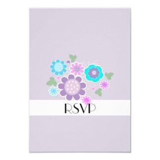Hübsches elegantes Pastellfrühlingposy-Motiv UAWG 8,9 X 12,7 Cm Einladungskarte
