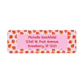 Hübsches Erdbeercreme-Muster personalisiert