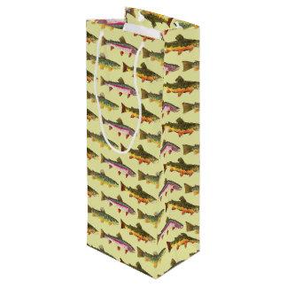 Hübsches Forelle-Fischen, Ichthyologie Geschenktüte Für Weinflaschen
