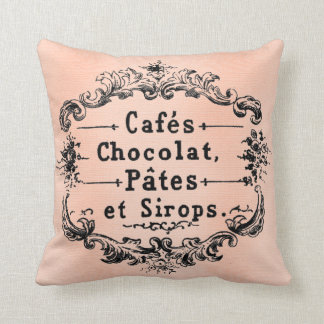 Hübsches französisches antikes Kunst-Kissen Paris Zierkissen