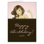 Hübsches Frauen-Geburtstags-Karten-Rosa