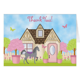 Hübsches Garten-Pferd danken Ihnen Karten