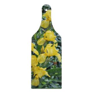 Hübsches gelbe Iris-Blumenausschnitt-Brett Schneidebrett