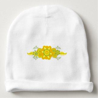 Hübsches gelbes Blumen-Mittelstück Babymütze