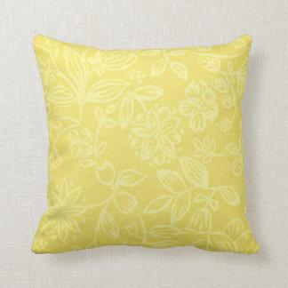 Hübsches gelbes Blumenmusterthrow-Kissen Kissen
