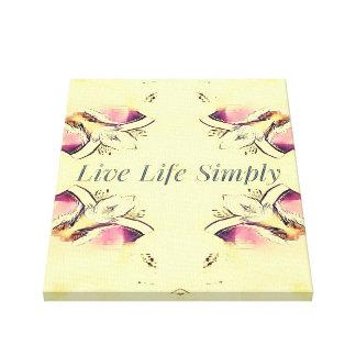 Hübsches gelbes Rosen-Lebensstil-Zitat Leinwanddruck