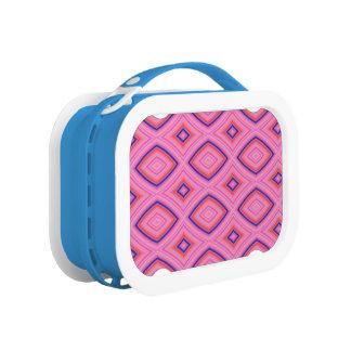 Hübsches geometrisches in größtenteils rosa brotdose