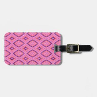 Hübsches geometrisches in größtenteils rosa kofferanhänger