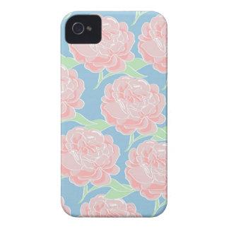 Hübsches Girly Pastellrosa und blauer Blumendruck iPhone 4 Hülle
