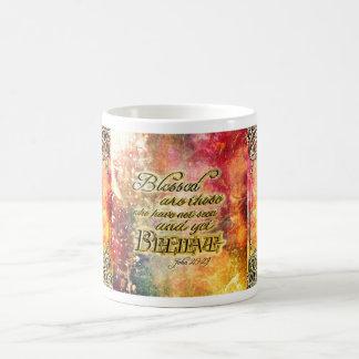 Hübsches Gold gesegneter geistiger Scripture Kaffeetasse