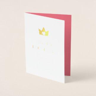 Hübsches Gold u. rosa Prinzessin alles Gute zum Folienkarte