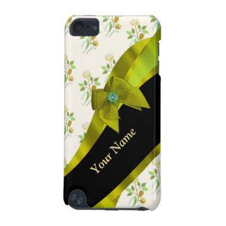 Hübsches grünes Vintages BlumenBlumenmuster iPod Touch 5G Hülle