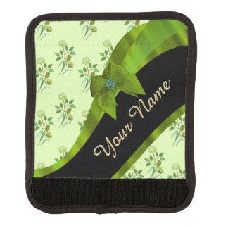 Hübsches grünes Vintages BlumenBlumenmuster Koffergriffwickel