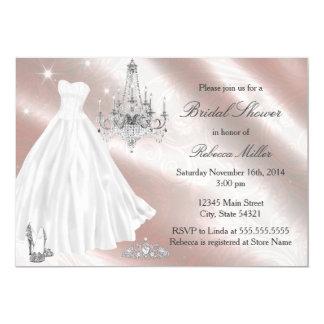 Hübsches Hochzeits-KleiderBrautparty laden ein 12,7 X 17,8 Cm Einladungskarte