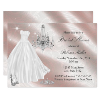 Hübsches Hochzeits-KleiderBrautparty laden ein Karte