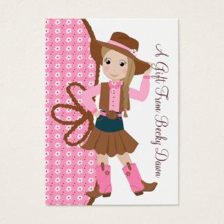 Hübsches Lil Cowgirl Visitenkarte