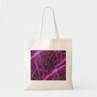 Hübsches lila abstraktes konzentrische tragetasche