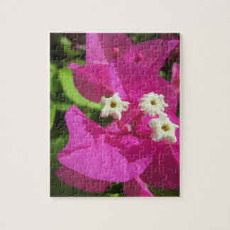 Hübsches lila Bouganvilla Puzzle