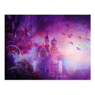 Hübsches lila feenhafte postkarte