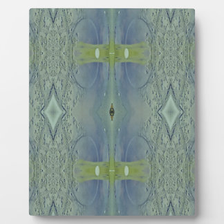 Hübsches Limones blaues künstlerisches Muster Fotoplatte