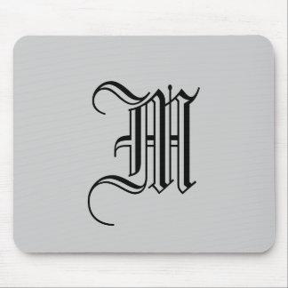 Hübsches mit Monogramm Mousepad