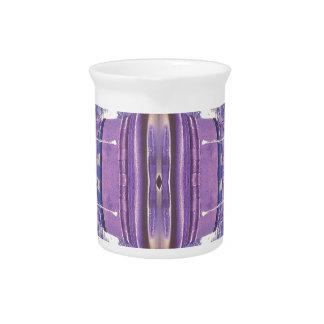 Hübsches modernes Lavendel-Rosa-Pastell-Muster Krug