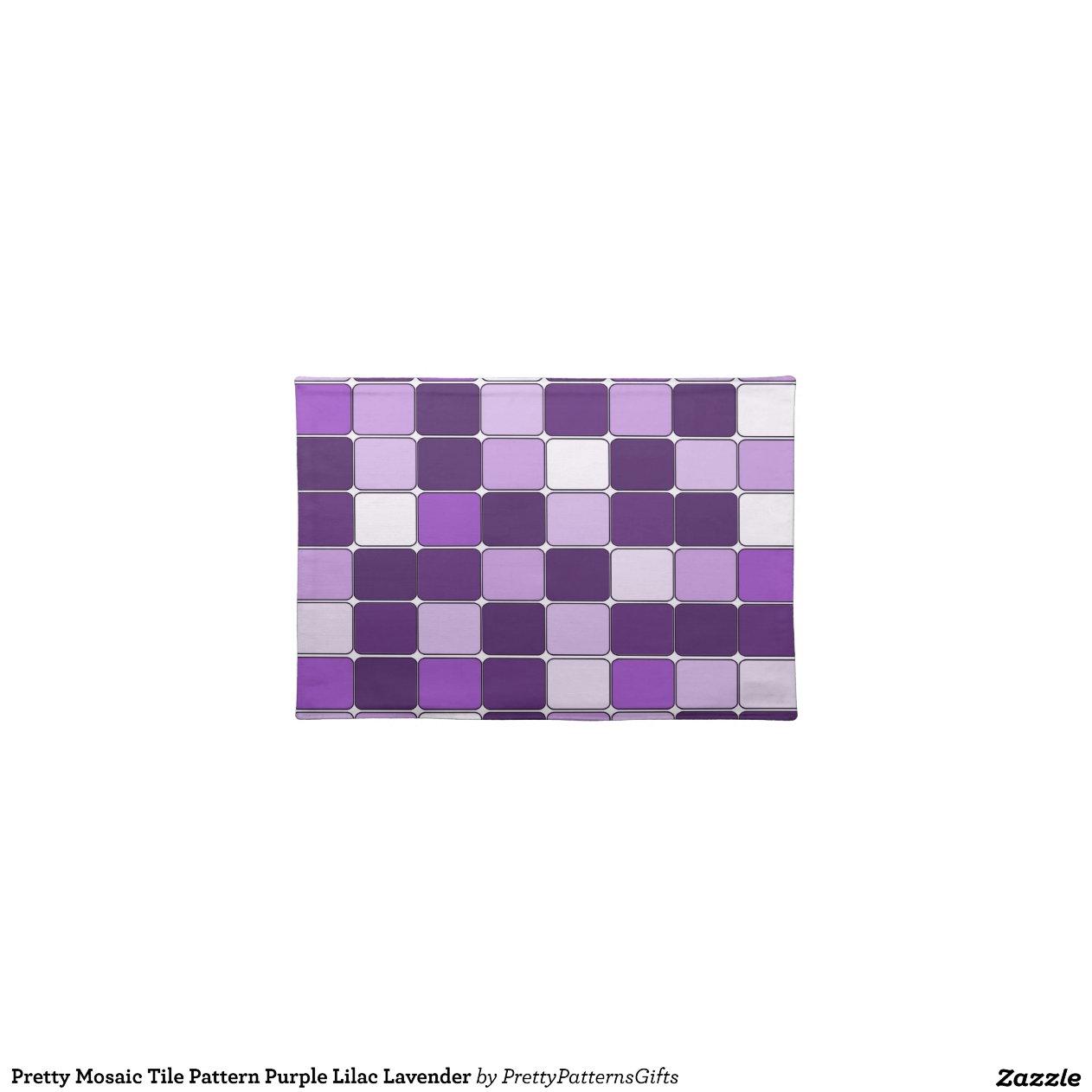 h bsches mosaik fliesen muster lila lila lavendel tischsets zazzle. Black Bedroom Furniture Sets. Home Design Ideas