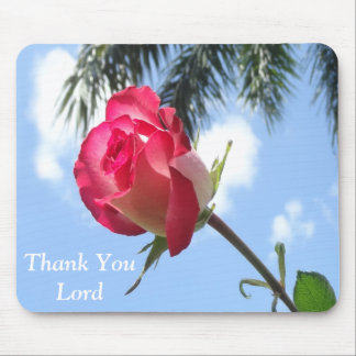 Hübsches Mousepads mit Rose und danken Ihnen Lord