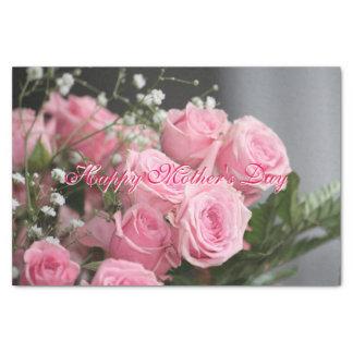 Hübsches Mutter-Tagesrosa-Rosen-Seidenpapier Seidenpapier