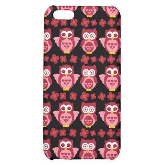 Hübsches niedliches rosa Eulen-und Blumen-Muster-S iPhone 5C Hüllen