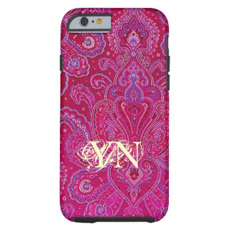 Hübsches Paisley-Monogramm Tough iPhone 6 Hülle