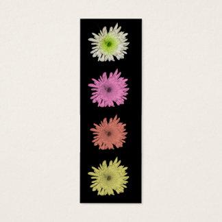Hübsches Pastellchrysantheme-Lesezeichen Mini Visitenkarte