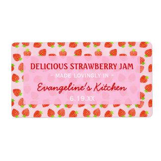 Hübsches personalisiertes Erdbeermarmeladen-Glas