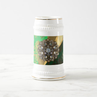 Hübsches personalisiertes girly grünes bierglas