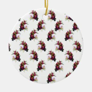 Hübsches Pfingstrosen-Muster Keramik Ornament