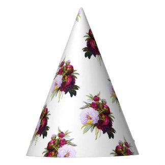 Hübsches Pfingstrosen-Muster Partyhütchen