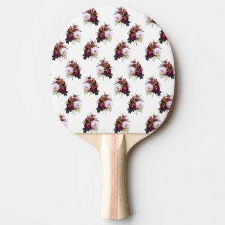 Hübsches Pfingstrosen-Muster Tischtennis Schläger