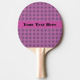 Hübsches rosa Blumenmuster Tischtennis Schläger