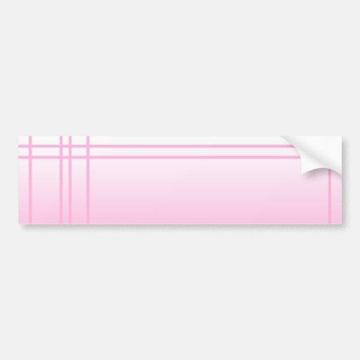 Hübsches Rosa. Einfacher eleganter Entwurf Autosticker