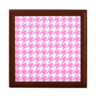 Hübsches rosa Hahnentrittmuster 1 Geschenkbox