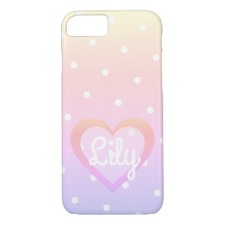 Hübsches rosa Herz kundengerechtes iPhone 7/8 Fall iPhone 8/7 Hülle