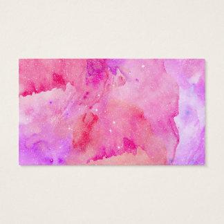 Hübsches rosa Imitatfunkelnd Watercolor-Farbe Visitenkarte
