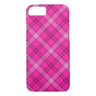 Hübsches rosa kariertes iPhone 7 hülle