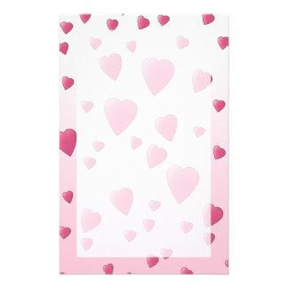 Hübsches rosa Muster der Liebe-Herzen Individuelles Druckpapier
