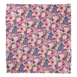 Hübsches rosa Paisley-Muster Halstuch