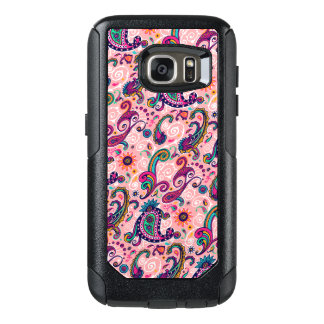 Hübsches rosa Paisley-Muster OtterBox Samsung Galaxy S7 Hülle