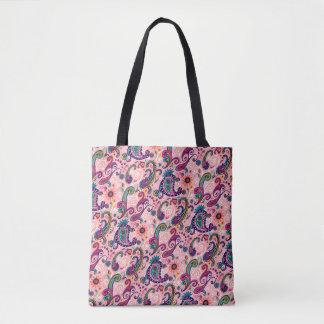 Hübsches rosa Paisley-Muster Tasche