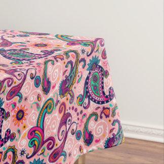 Hübsches rosa Paisley-Muster Tischdecke