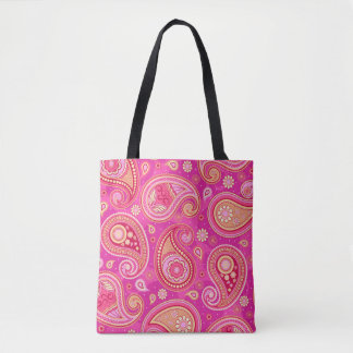 Hübsches Rosa Paisley-Musters Tasche